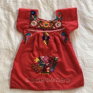 Other - Baby/Toddler Red Mexican Embroidered Dress